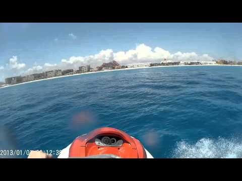 Wave runner off the beach Cancun Mexico rental Jet Ski