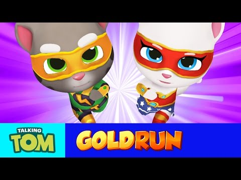 NEW In Talking Tom Gold Run - Superheroes Run Faster (Gameplay)