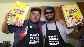 COOKING WITH CHUNKZ ft DARKEST MAN - HOW TO MAKE CEREAL!