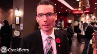 CIBC and Rogers demo the mobile wallet on the BlackBerry Bold 9900