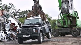 U.S. Customs and Border Protection Crushes a Seized Land Rover Defender | AiirSource