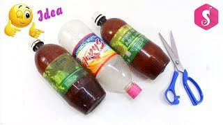 Amazing Way to Reuse Plastic Bottle/Vertical Gardening Plant Pot DIY