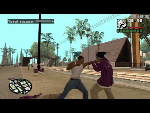 GTA San Andreas - CJ talks to people in Los Santos