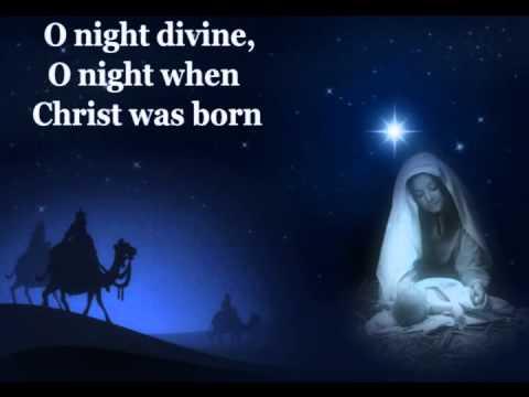 O Holy Night with lyrics:Celine Dion