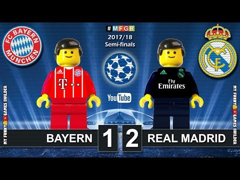 Bayern vs Real Madrid 1-2 • Semi-finals Champions League 2018 (25/04) Goals Highlights Lego Football thumbnail