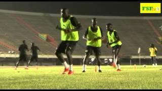Séance d'entraînement des Lions à Dakar