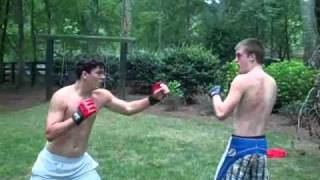 backyard mma fight