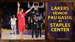 Lakers Honor Pau Gasol At Staples Center