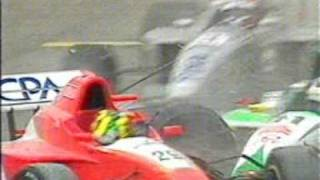 Mario Haberfeld F3000 big crash at Barcelona 2000