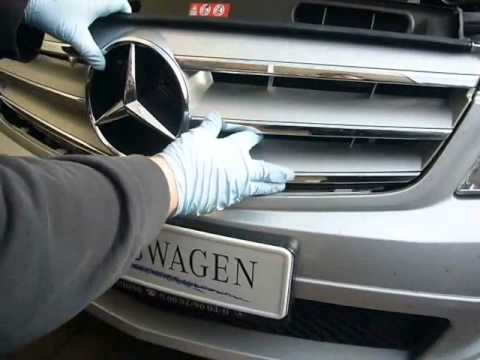 Mercedes Benz Brake Pads And Rotors >> W204-Demontage Kühlergrill - YouTube