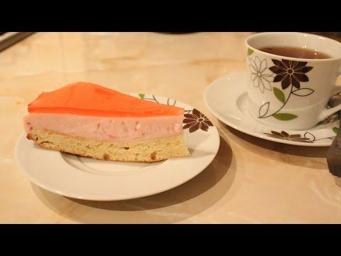 Простой, быстрый йогуртовый торт