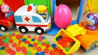 Pororo Car toys and Orbeez Surprise eggs with Baby doll play