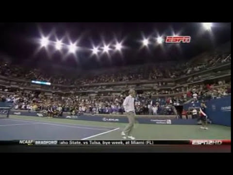 Novak Djokovic vs John McEnroe US Open 2009