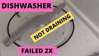 Frigidare Dishwasher Not Draining Failed  2x - DIY unclogged dishwasher