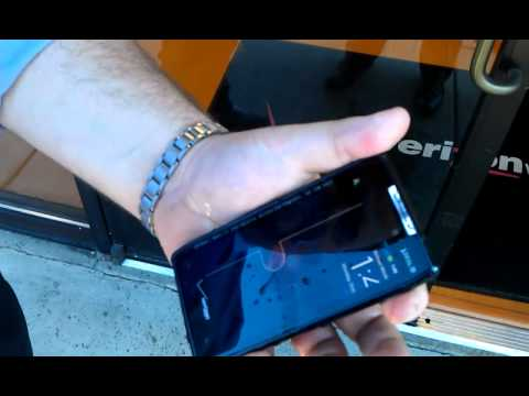 Motorola RAZR Water Resistant Test