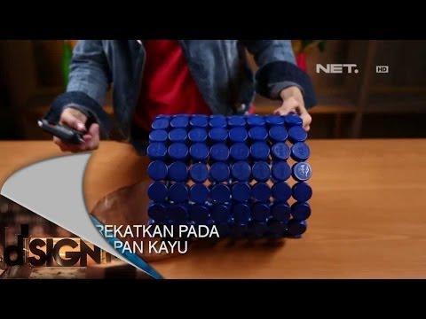 Dsign - Handcraft - Tempat sampah dari tutup botol