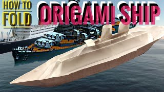 How to fold ORIGAMI SHIP.