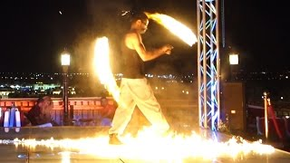 Fire show in New Panorama Sharm (ex. Zaza) in Egypt