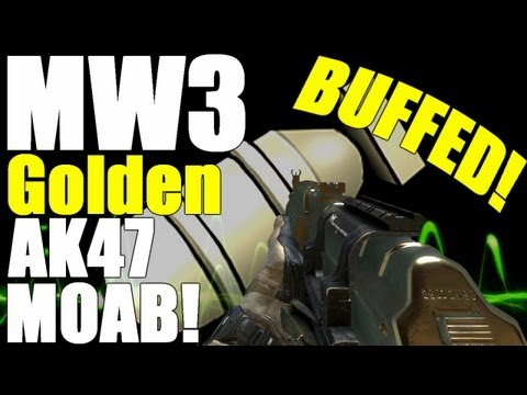 MW3: MOAB w/ Golden AK47! (After Hot Fix) New AK is AMAZING!