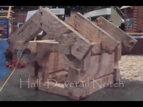 Hand-Crafted Log Homes / Hand-Hewn Dovetail Notch Demonstration