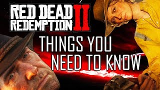 Red Dead Redemption 2: 10 Things You NEED TO KNOW