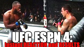 UFC on ESPN 4 Reaction and Results