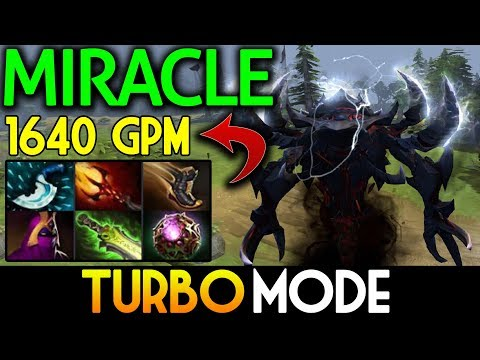 Miracle- Dota 2 [Shadow Fiend] WTF TURBO MODE !! 1640 GPM Patch 7.07