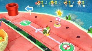 Super Mario Party Megafruit Paradise #58 Peach vs Daisy vs Rosalina vs Bowser Jr