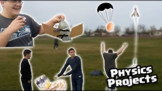 Water Bottle Rockets, But With Egg Capsules   Physics Projects