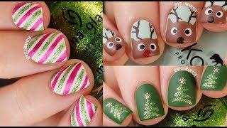 3 Christmas Nail Art Designs Compilation! (with voiceover) || KELLI MARISSA
