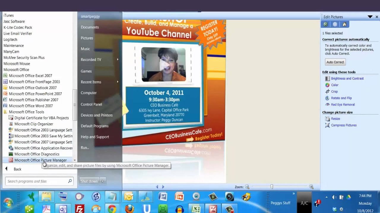 microsoft office picture manager 2010 برنامج