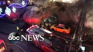 5 alarm fire engulfs city block in Queens