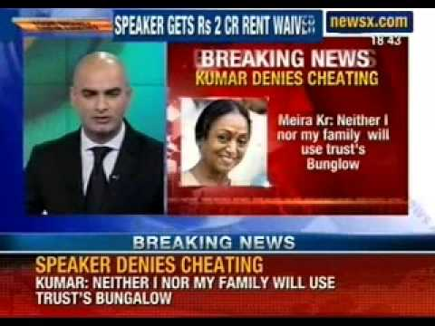 Your Money their Luxury: Lok Sabha speaker Meira Kumar gets access to Lutyens bungalow till 2038