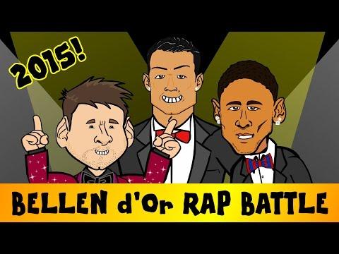 Ballon d'Or RAP BATTLE 2015 (feat. Messi, Ronaldo and Neymar - Bellen d'Or Parody Song)