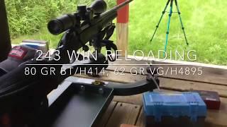 .243 Win Reloading - 80 gr. Nosler BT/H414, 62 gr. Barnes VG/H4895