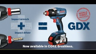 Bosch Blue Professional Tools - GDX 18V EC Brushless Impact Driver + Wrench - WORLD INNOVATION