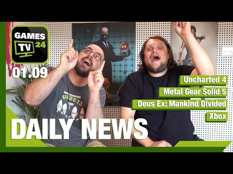 Metal Gear Solid 5, Uncharted 4, Deus Ex, Witcher 3   Games TV 24 Daily - 01.09.2015