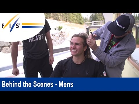Ted Ligety's Hairdressing skills - US Rookie gets final prep for Madona Di Campiglio race