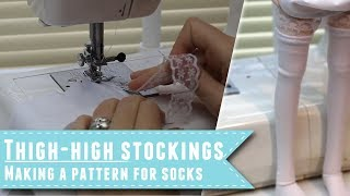 How to make thigh-high stockings for dolls