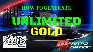 NITRO NATION - HOW TO GENERATE UNLIMITED GOLD