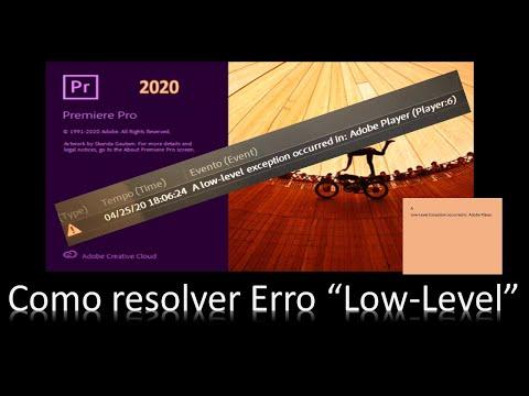 Como resolver o Erro Low-Level no Adobe - How to resolve the Low-Level Error in Adobe