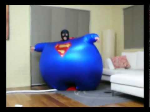 Stuck in his costume