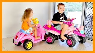 Peppa Pig Power Wheels Ride On Car