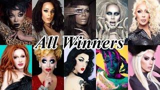 Rupaul's Drag Race Winners (Seasons 1-8 and All Stars 1-2)