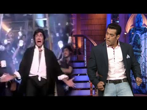 Salman Khan Dances On Amitabhs Jumma Chumma De De