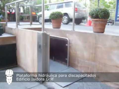 Plataforma Hidr Ulica Para Discapacitados Con Rampa De