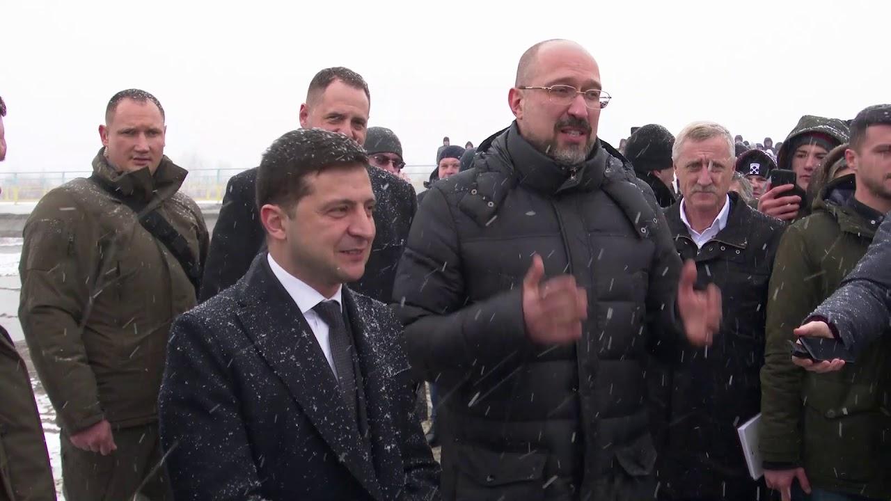 Володимир Зеленський побував на новому мості через Чечву в Калуському районі