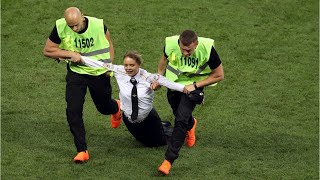 World Cup Final: Anti-Kremlin Protesters Run Onto Pitch