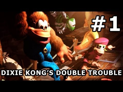 Donkey Kong Country 3: Dixie Kong's Double Trouble! - Parte 1 - Mal pude ver seus movimentos!