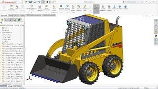 Solidworks tutorial   sketch Bobcat Loader in Solidworks